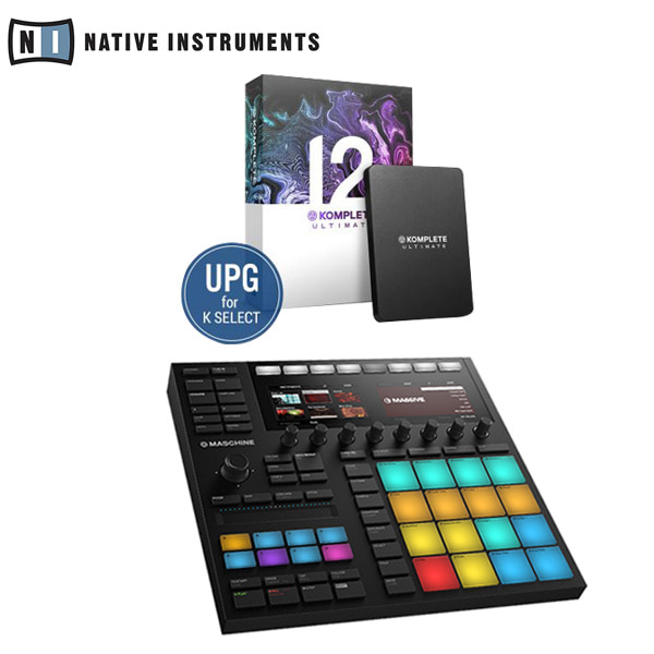 NI - MASCHINE MK3 미디 컨트롤로 / KOMPLETE 12 ULTIMATE UPG for K Select 패키지